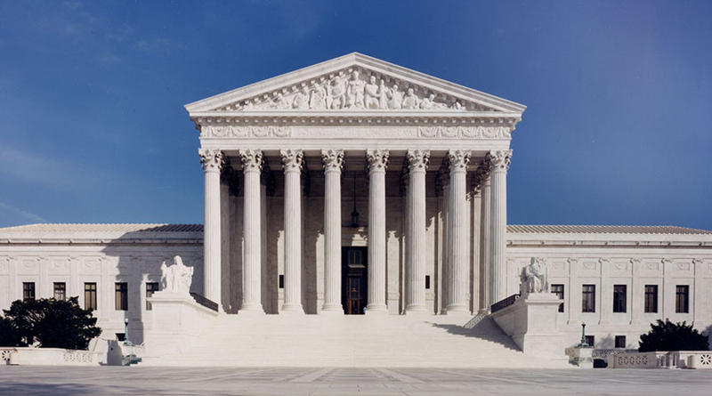 The U.S. Supreme Court building. The court refused to hear a local levee board's appeal of a lower court's ruling — ending its lawsuit against more than 90 oil and gas companies.