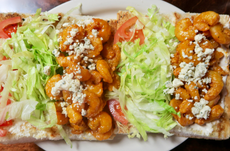 The Buffalo shrimp po-boy from Avery's on Tulane.