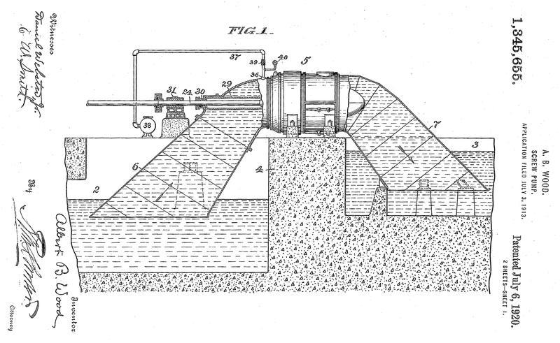 Patent diagram for Wood Screw Pump