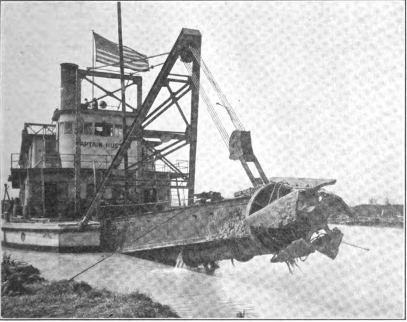 The Dredge, Captain Huston, used in the excavation of the New Orleans Inner Harbor Navigation Canal