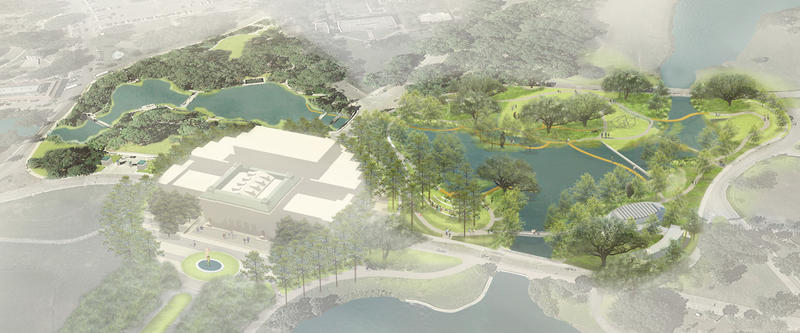 Visual rendering of the Sculpture Garden expansion.
