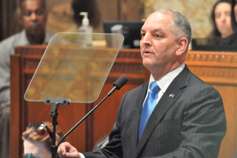 File photo: Gov. John Bel Edwards addresses the Louisiana legislature.