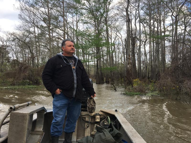 Crawfisherman Jody Meche opposes the Bayou Bridge Pipeline. He says pipelines have contributed to the diminished water quality in the Atchafalaya Basin, making his job tougher.