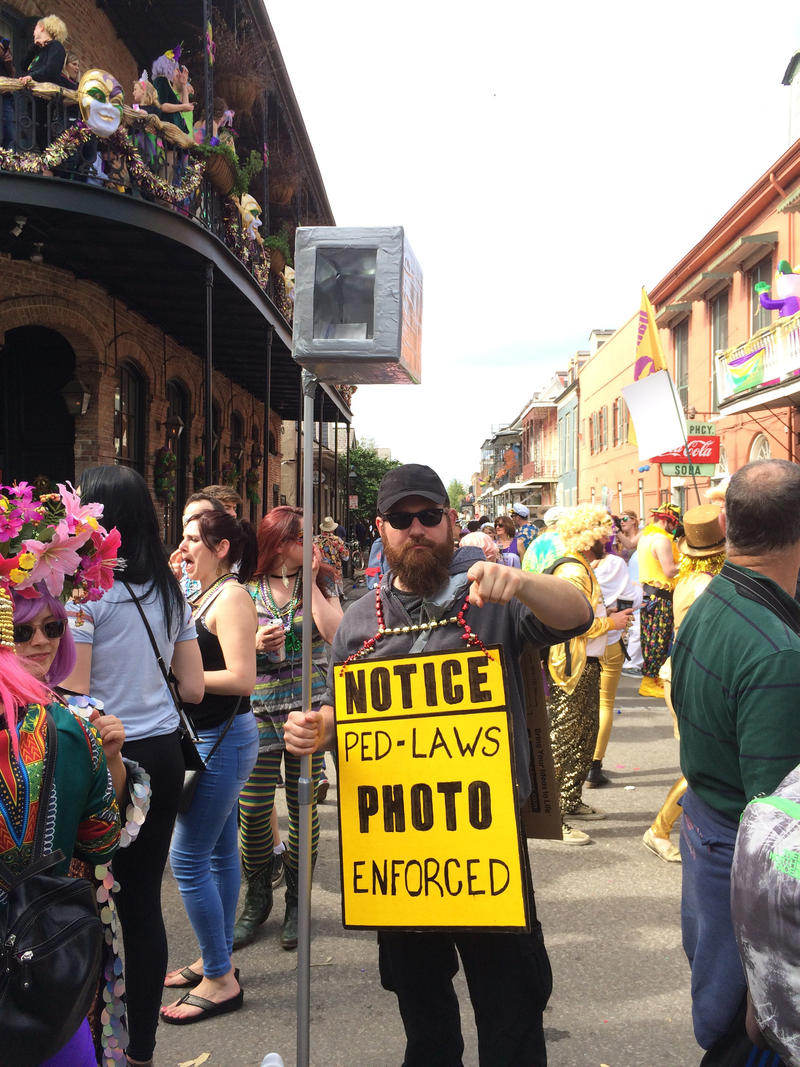 A resident satirizes New Orleans' contentious surveillance system.