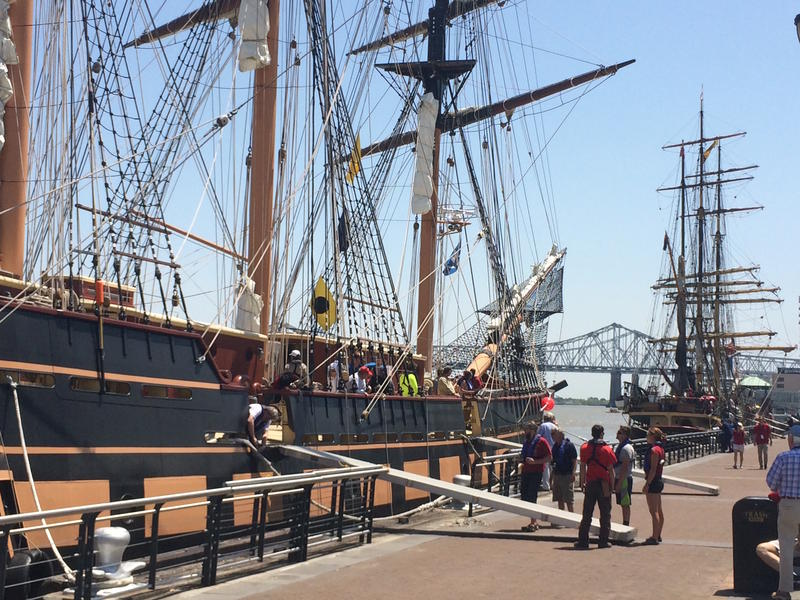 The ships are open to the public through Sunday.