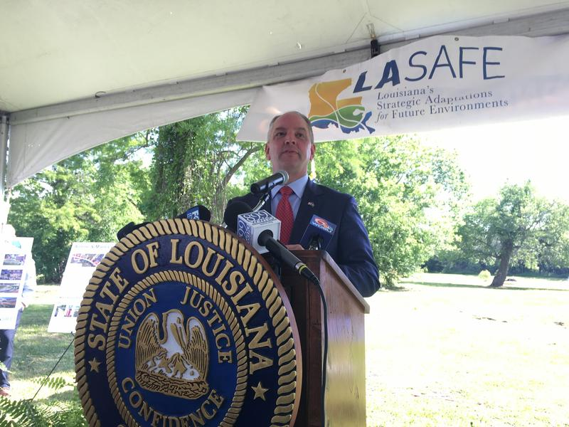 Gov. John Bel Edwards announced the 10 projects, which will be implemented in six coastal parishes.