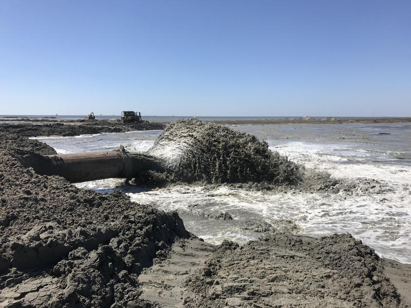 State officials aim to be finished rebuilding Whiskey Island by the end of the summer. The goal is to add 170 acres of marsh habitat and 917 acres of dune and beach habitat.