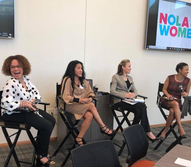 Panelists at a Nola4Women discussion.