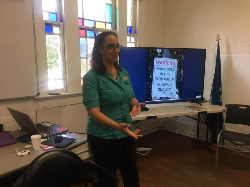 Odyssey House hosts an opioid abuse recovery class.