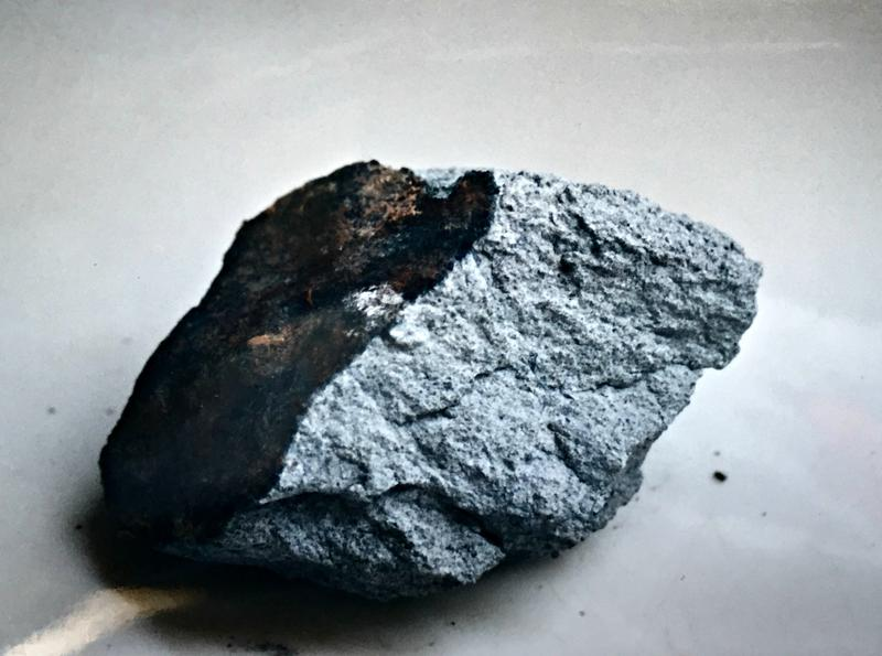The meteorite that landed in Roy Fausset's home.