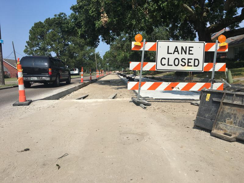 A stretch of Robert E. Lee Blvd. is being resurfaced through the Recovery Roads program -- which is funded by more than $1 billion from a settlement with FEMA related to damages from Hurricane Katrina.