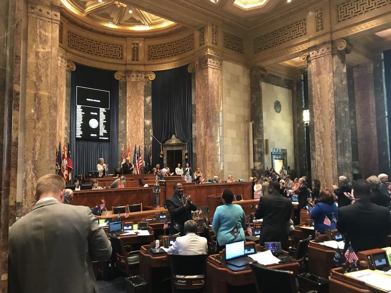 Senate applauds the close of the 2018 Legislative Session.