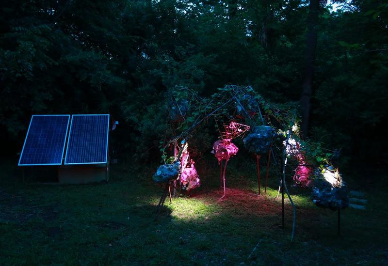 Hannah Chalew's Terraforming in the Anthropocene, 2018, at Grow Dat Youth Farm, New Orleans