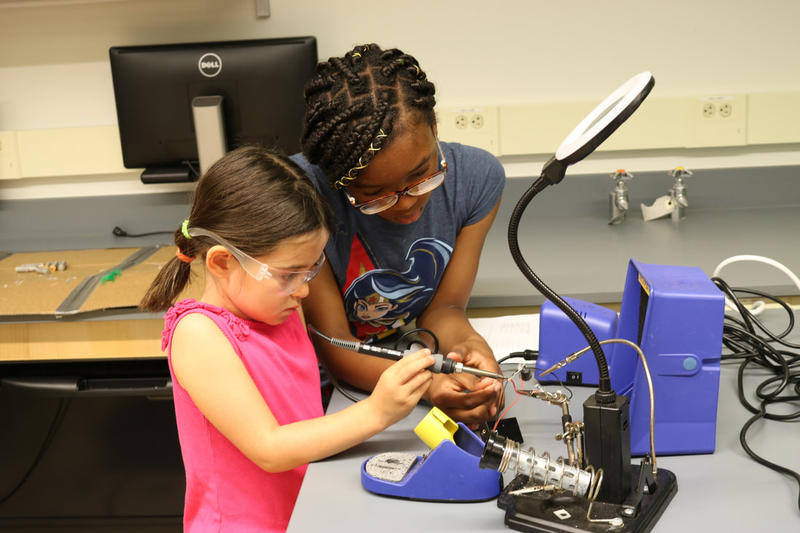 Electric Girls' mentorship program enables students to learn from each other.