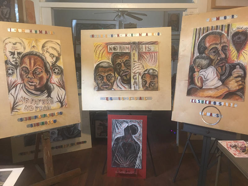 Hard Living in the Big Easy: Immigrants and the Rebirth of New Orleans, by artist José Torres-Tama