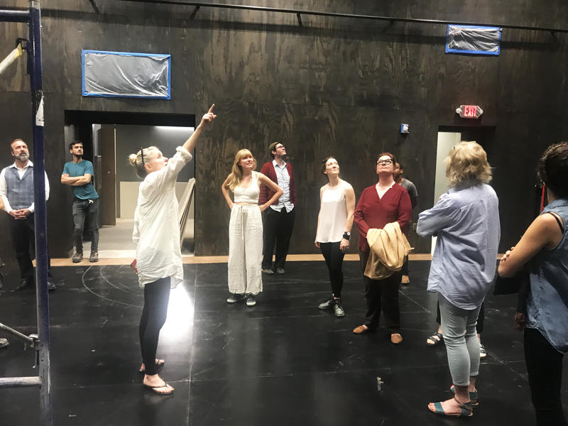 The cast of A Doll's House, Part 2 tours Southern Rep's new mainstage.