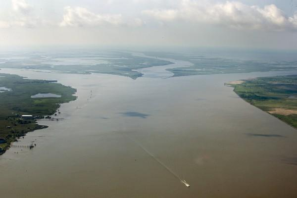The Head of Passes is seen along the Mississippi River in Louisiana on Wednesday, July 25, 2018.