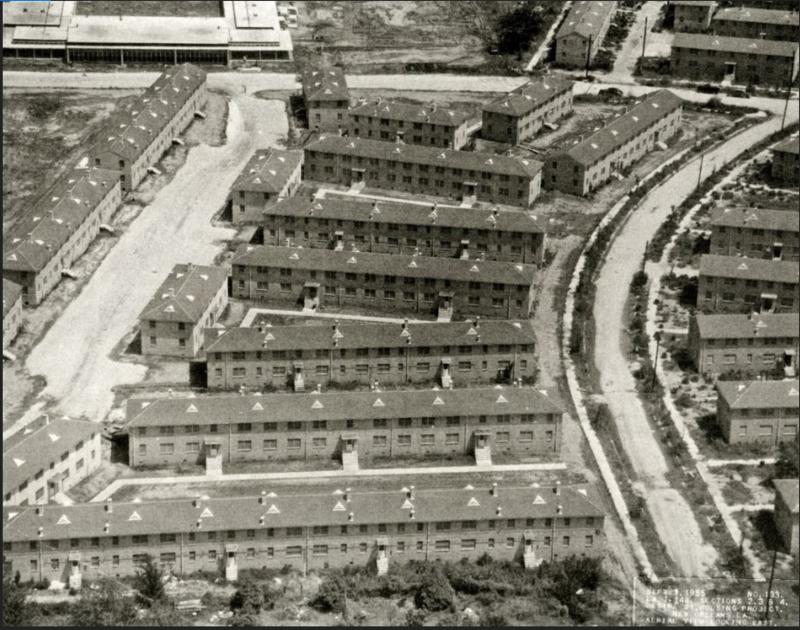 The Desire Public Housing development, seen from above