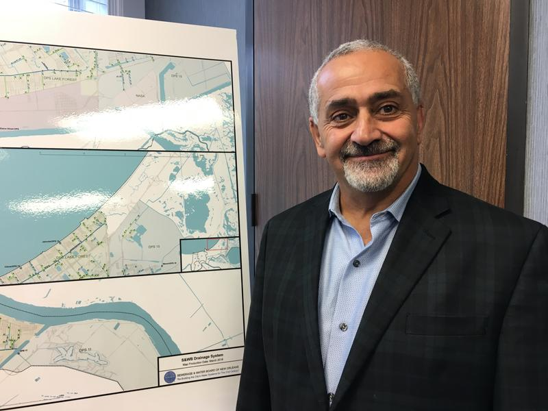 New Sewerage and Water Board Executive Director Ghassan Korban in his office in New Orleans.