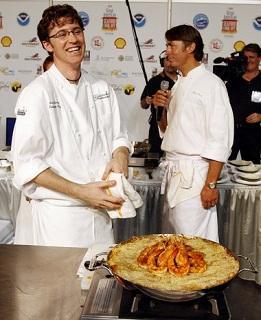 Chef Brian Landry of John Besh's latest restaurant, Borgne.