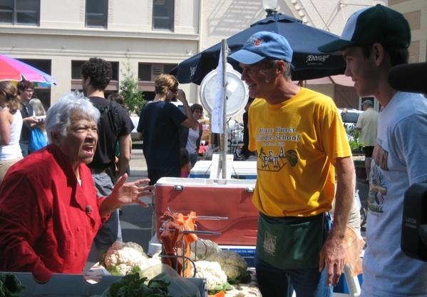 Leah Chase at the Crescent City Farmers Market.