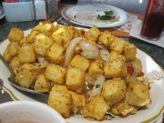 Salt-baked tofu at Kim Son.