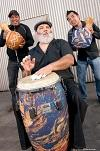 Conga player Poncho Sanchez.