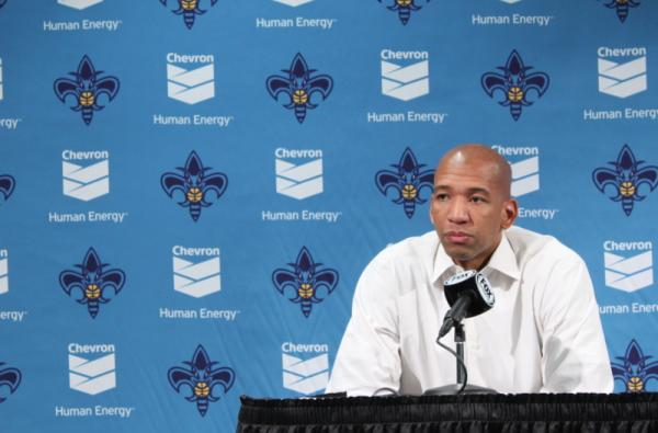 Hornets head coach Monty Williams after the game.