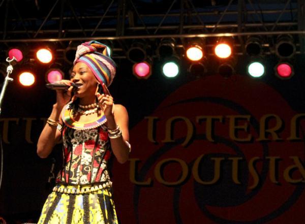 Malian singer Fatoumata Diawara performed Thursday night at Festival International in Lafayette.