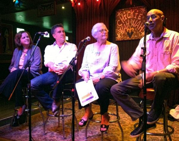 Renee Peck, Brett Will Taylor, Sharon Litwin and Vernel Bagneris at WWNO's SpeakEasy on May 23.