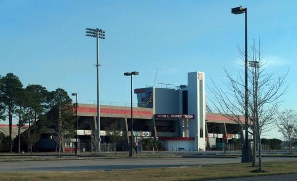Manning Field at Guidry Stadium at Nicholls State University.