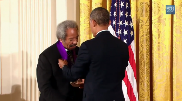 President Obama presents the National Medal of Arts to Allen Toussaint