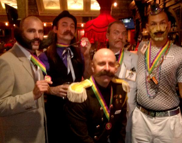 Medalists at the National Beard And Moustache Championships held at the House of Blues last month.
