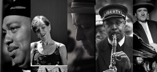 Shannon Powell, Marcia Ball, Alex McMurray, Dr. Michael White and Jon Cleary
