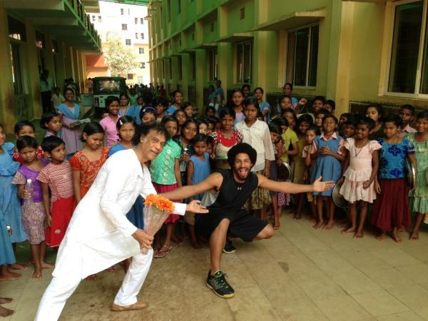 Chitresh Das and Jason Samuels Smith have performed together around the world, including for the school children of Bhubaneswar, India.