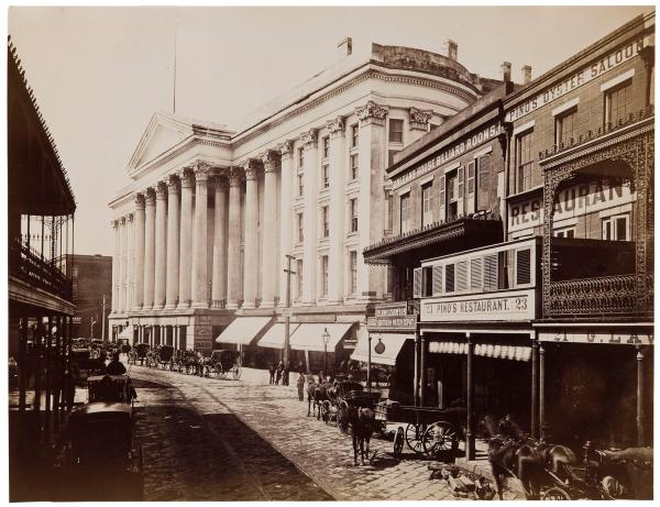 A photograph by Theodore Lilienthal of St. Charles Ave. in the middle of the 19th Century.