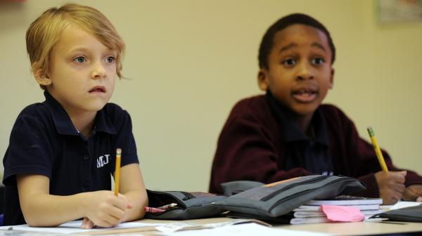 Students at Morris Jeff Community School in New Orleans, one of the small, but growing number of charter schools that are trying to be racially and economically diverse.
