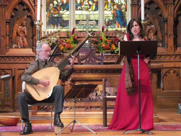 Baroque singer Mattea Musso performs with Stuart LeBlanc at Trinity Church in 2013. Her latest concert will be this weekend at the Marigny Opera House.