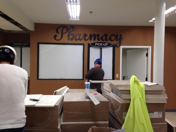 What will be the pharmacy counter inside the new Circle Food Store.