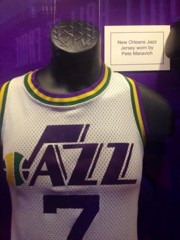 New Orleans Jazz jersey worn by Louisiana legend Pete Maravich.