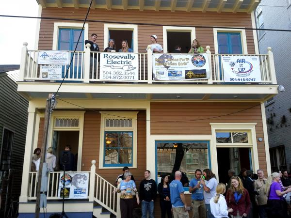 People filled the streets to celebrate the renovation of Professor Longhair's house. The Central City home will house Longhair's family, as well as a place for fans to celebrate the pianist.