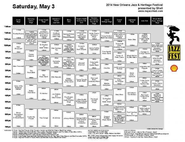 Saturday, May 3