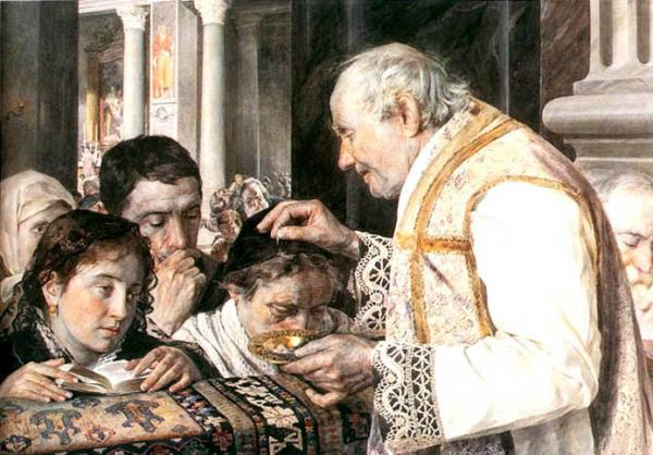 Ash Wednesday, watercolor, 1881.