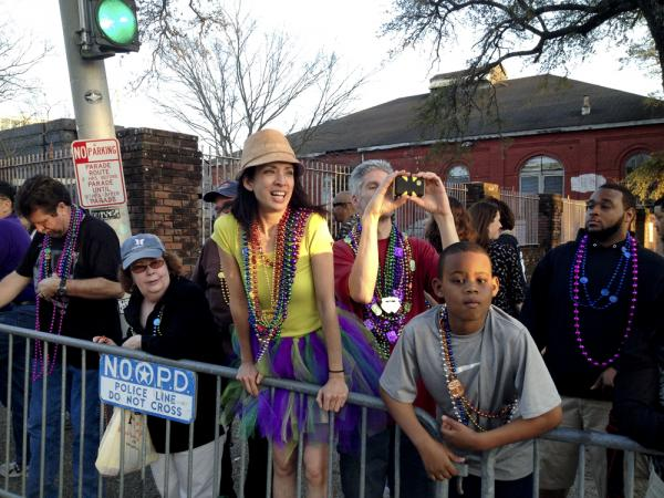 As the Uptown parade route becomes ever-more crowded, more people are discovering the staging area.