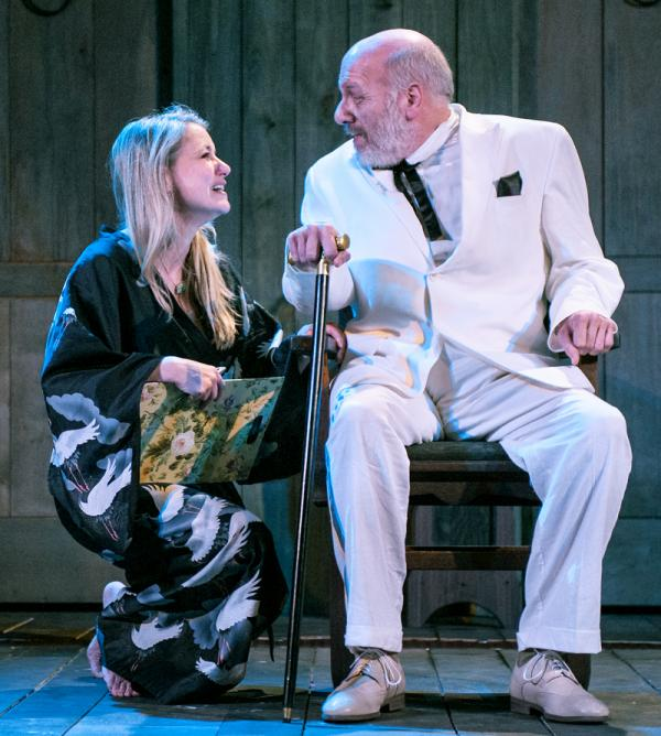 Aimée Hayes and Bob Edes, Jr. in Southern Rep's production of The Night of the Iguana.