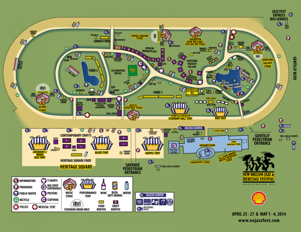 2014 Jazz Fest map.