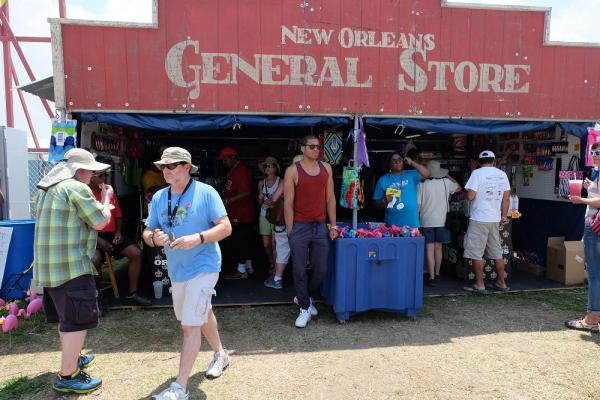 Dan Shapiro has been operating the New Orleans Jazz and Heritage Festival General Store for the past 20 years.