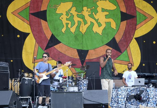 Baiana Systems of Bahia, Brazil opened the Congo Stage on Saturday.