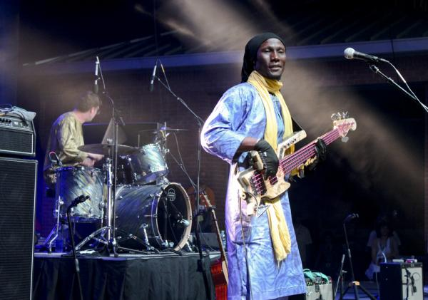 Nigerian band Bombino closed out Saturday night on the Scène Stabril Stage in front of a crowd of thousands that spilled out into the streets beyond.