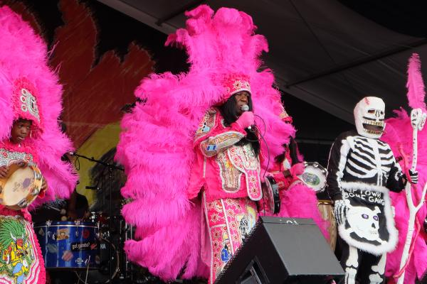Big Chief Monk Boudreaux at the Jazz and Heritage Stage.